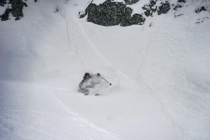 Matt Shortland skiing