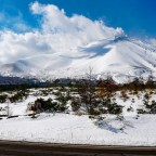 Asama-yama; the not very snowy volcano