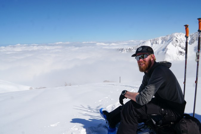 Robert above the clouds