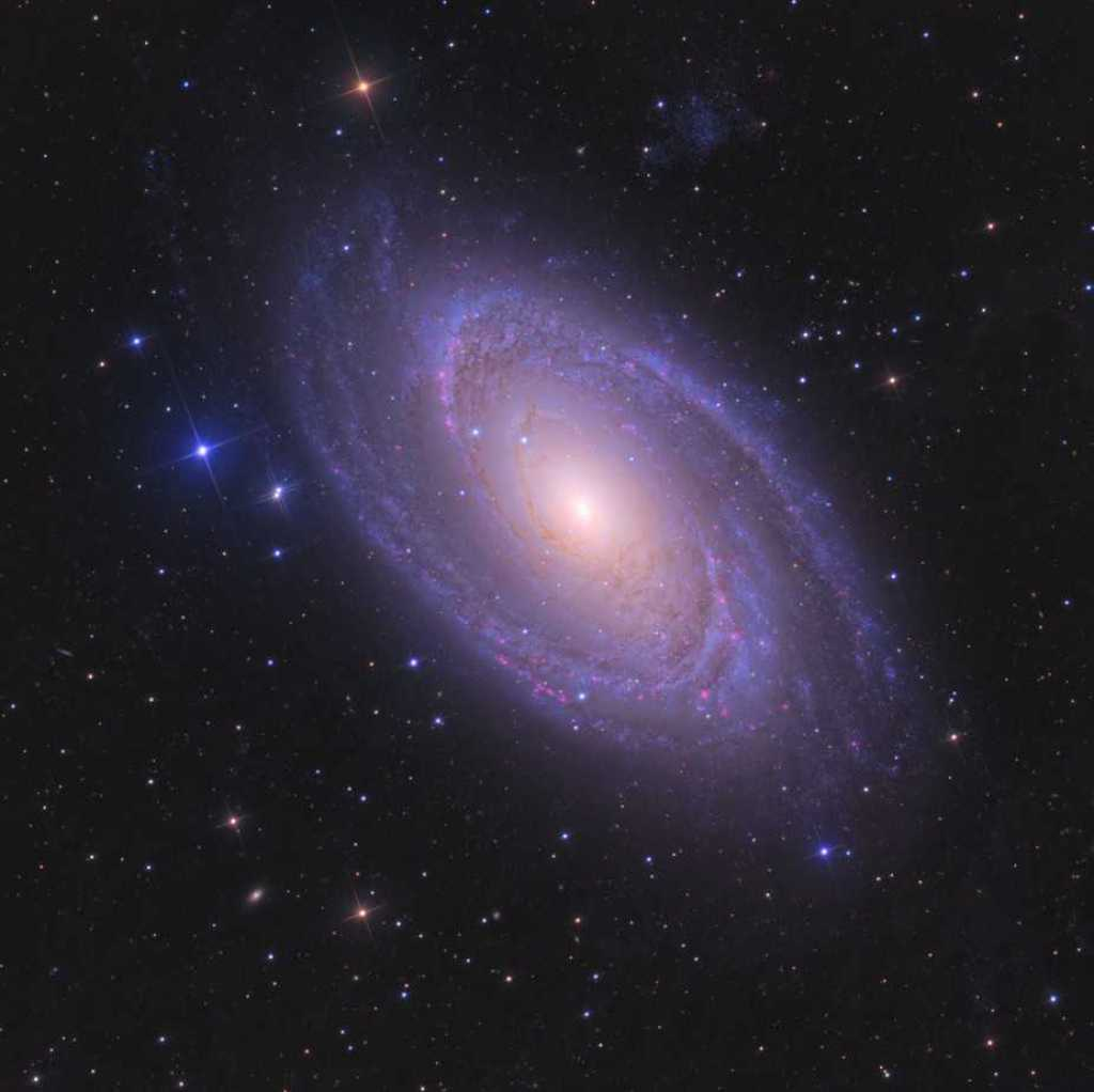 Messier 81 (M81) spiral galaxy