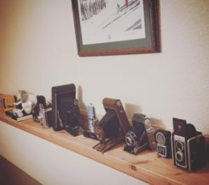 Picture of old cameras