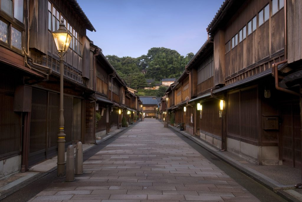 Higashi Chaya late afternoon Geisha district Kanazawa scaled e1610356589382