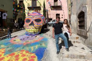 Tony Gunn and daughter backpacking through Mexico