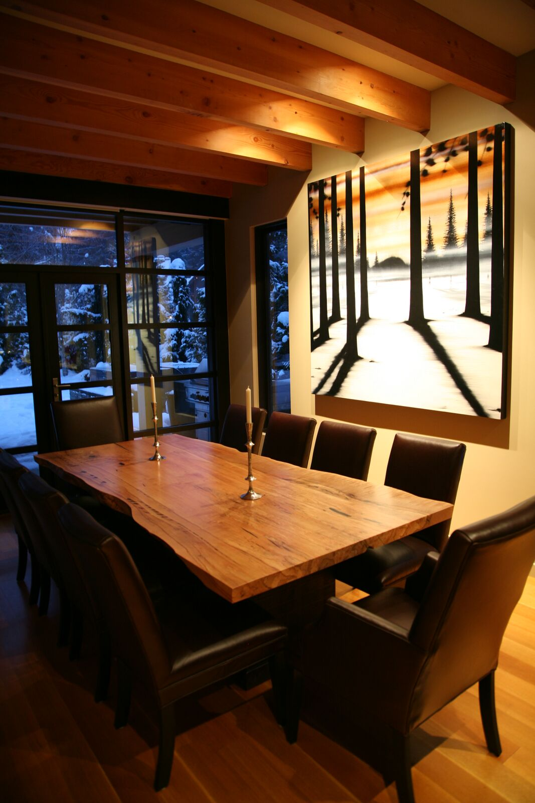 5 Bedroom Whistler home dining rm