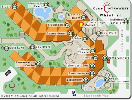 Club Intrawest Whistler Resort Map