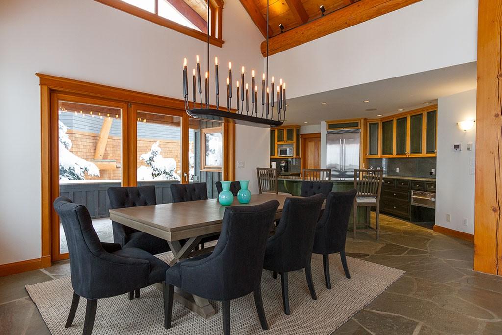 Peak Chalet Whistler Luxury Vacation Dining Room