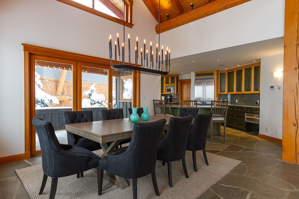 Peak Chalet Whistler Luxury Vacation Dining Room