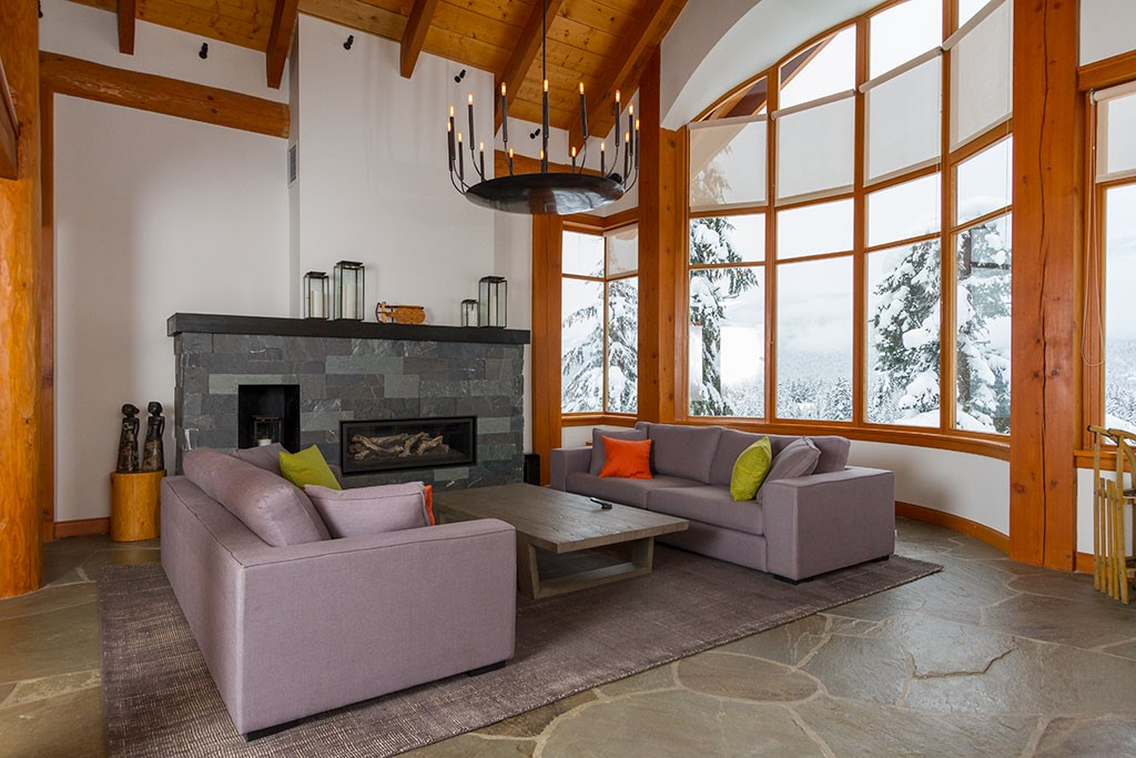 Peak Chalet Whistler Luxury Vacation Living Room