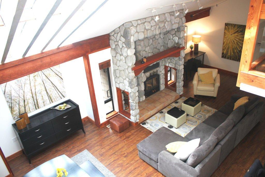 Whistler 5 Bedroom Rental Fireplace