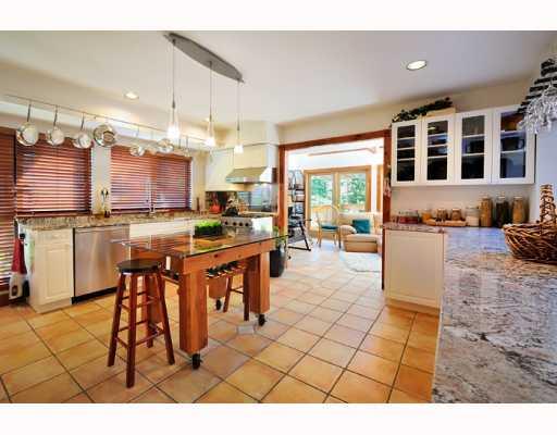 Whistler 5 Bedroom Rental Home Kitchen Island