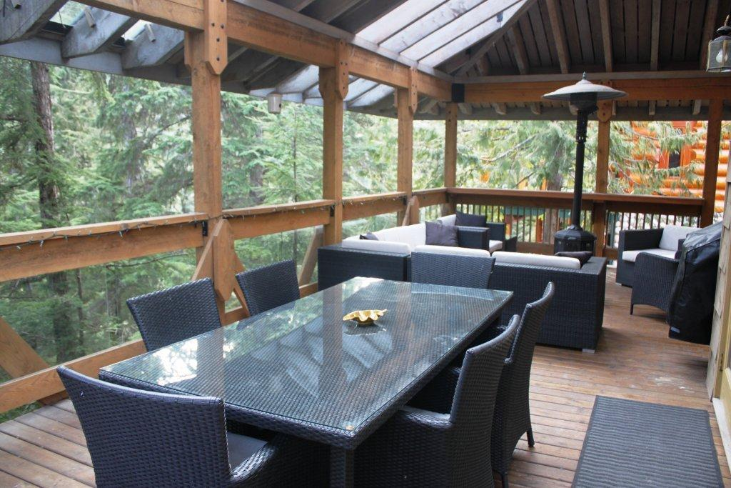 Whistler 5 Bedroom Rental Outdoor Dining Table