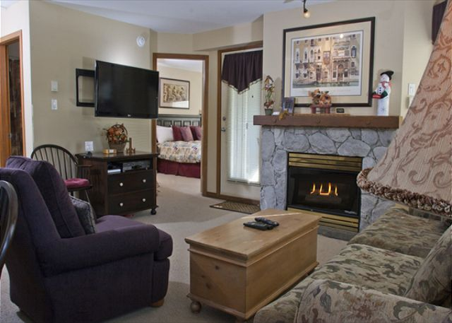 Whistler Accommodation Aspens on Blackcomb 355 Fireplace