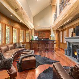 Whistler Luxury Log Home Media Rm