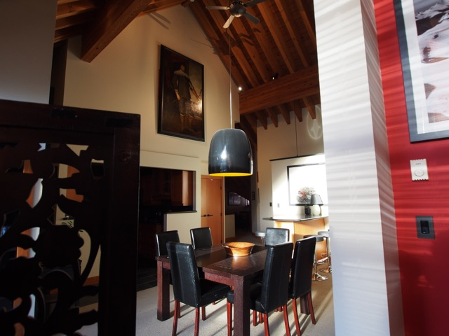 whistler village penthouse dining area