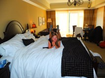 and several bottles of hotel shampoo later... (our heavenly room at the Oak Bay Beach Hotel)