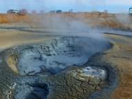 Bubbling mud pots