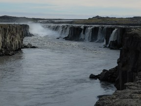 The smaller Selfoss is just upstream