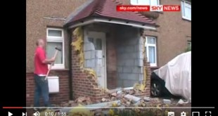 Builder demolishes work