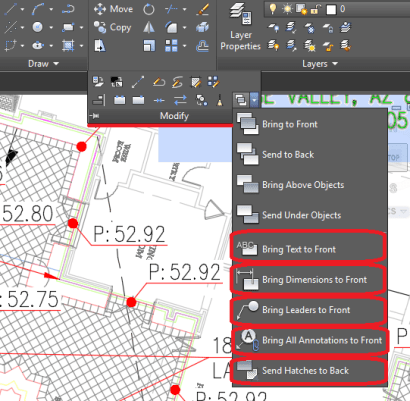 Bring all Text to Front in AutoCAD! AutoCAD Tips