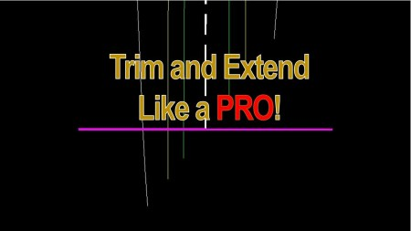 Trim and Extend like PRO! AutoCAD Tips