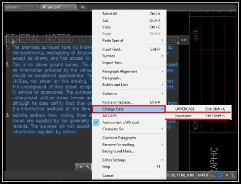 From CAPITAL to small Letters with 2 clicks in AutoCAD! AutoCAD Tips