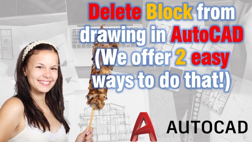 Delete block from drawing in AutoCAD
