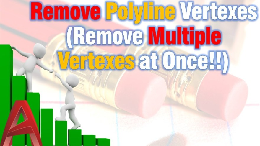 Remove Polyline Vertexes (Remove Multiple Vertexes at Once!!) AutoCAD Tips