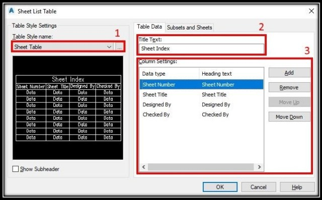 Create Automatic Project Sheet Table! AutoCAD Guides