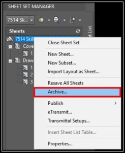 Archive Whole Project using Sheet Set! AutoCAD Guides