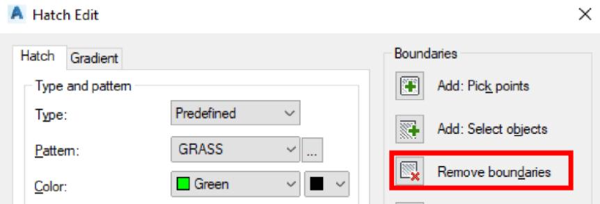 Hatch Edit Remove Boundary