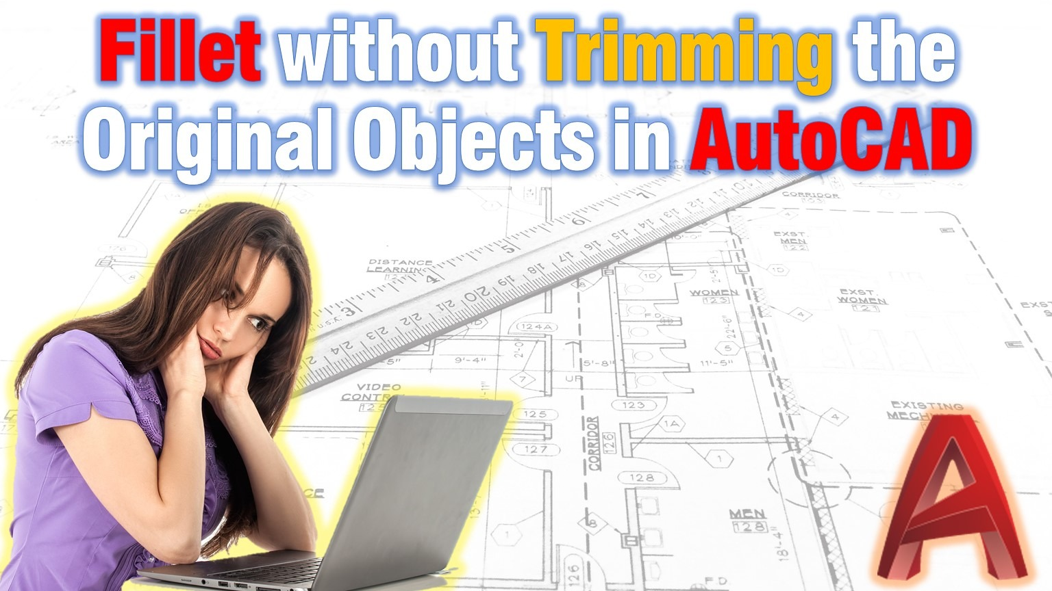 learn how to fillet without trimming original objects in autocad