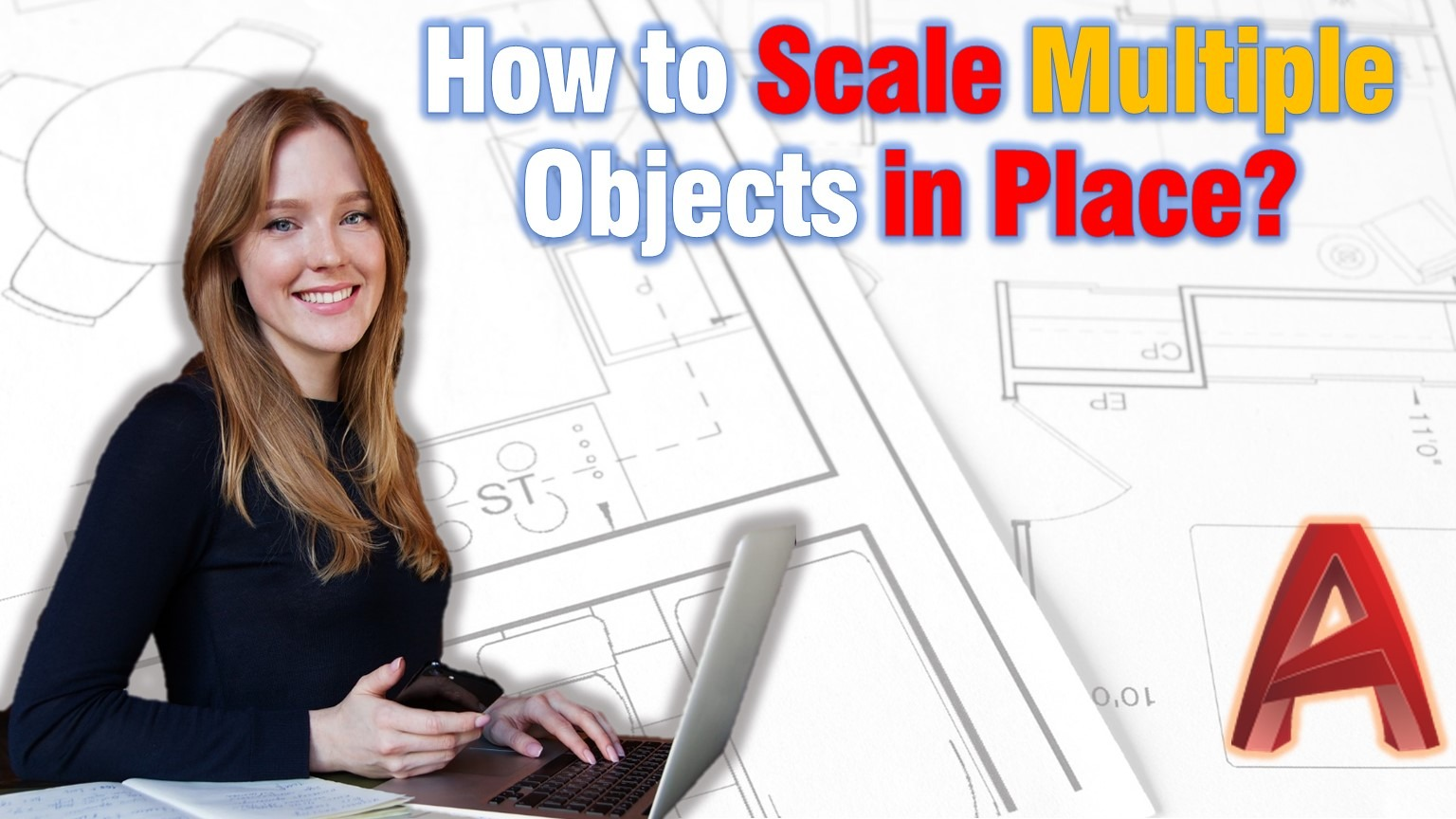 scale multiple objects in place