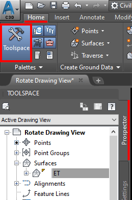 Toolspace Surface