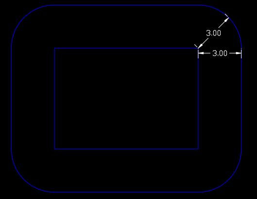 offset gap type radius