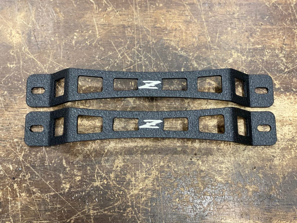 """Z"" Door Pull - black powder coat"