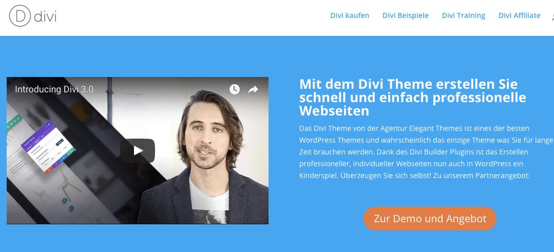 Divi Theme & Divi Builder, bestes multipurpose WordPress Theme für Anfänger + Profis