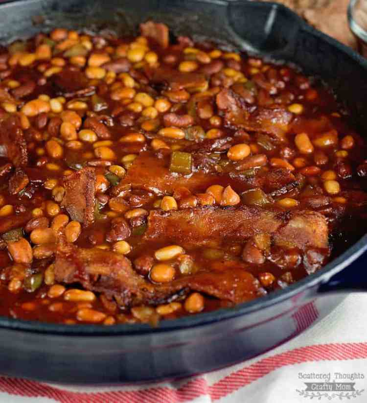 Skillet Barbecue and Bacon Baked Beans