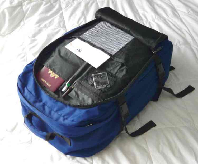 front loading carry-on backpack