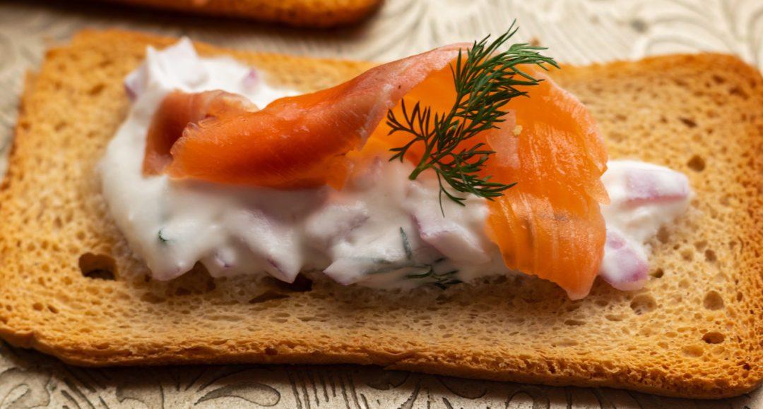 Gravlax Salmon-Vodka appetizers