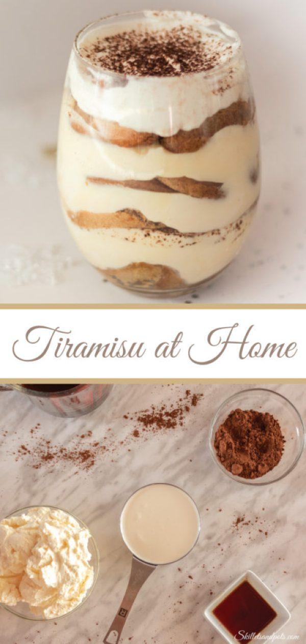 Homemade Tiramisu for Pinterest