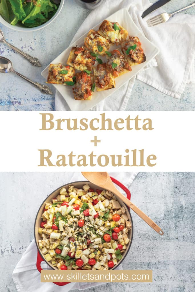 Bruschetta, Ratatouille ingredients