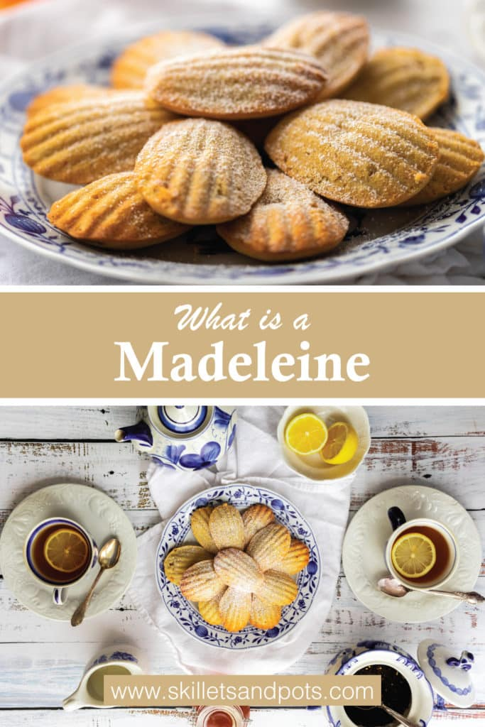 Madeleines small cakes and teat set