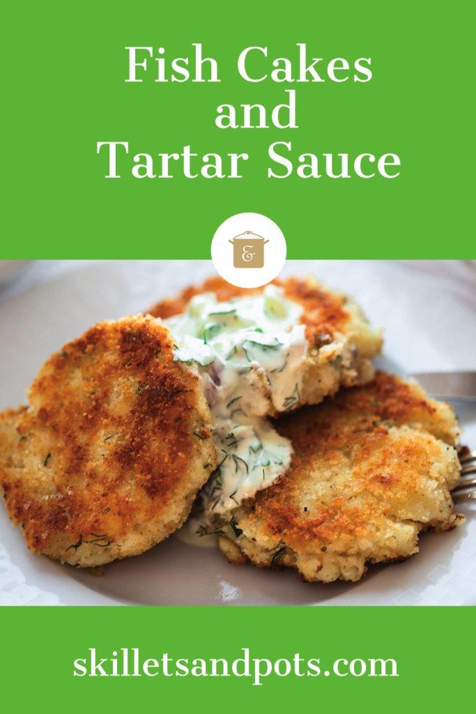 Fish Cake with a Light Tartar sauce