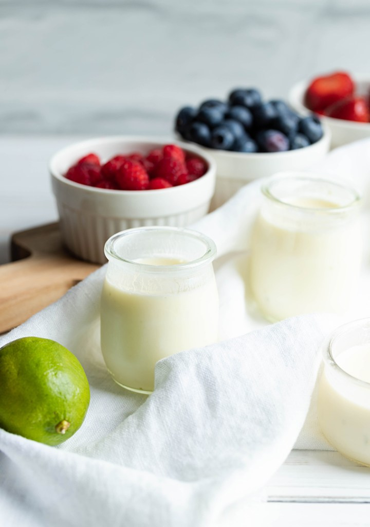 Lime Posset with fruits