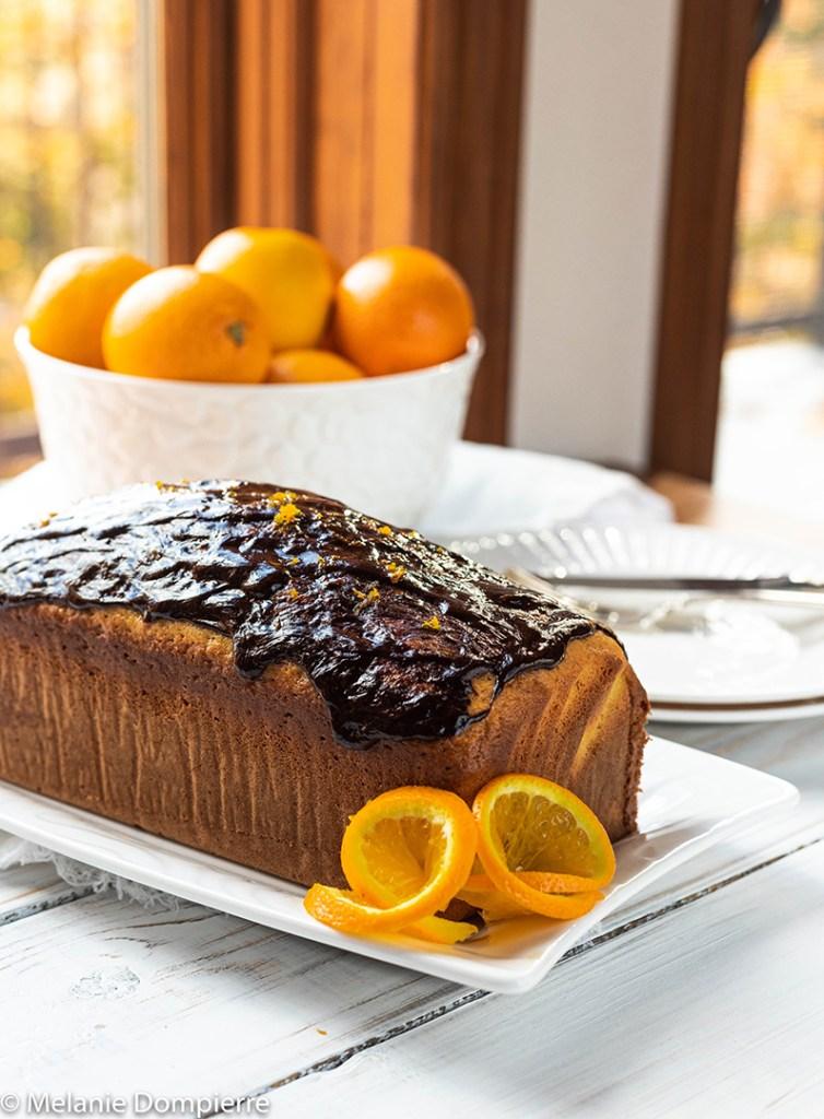Orange Cake with Chocolate Ganache