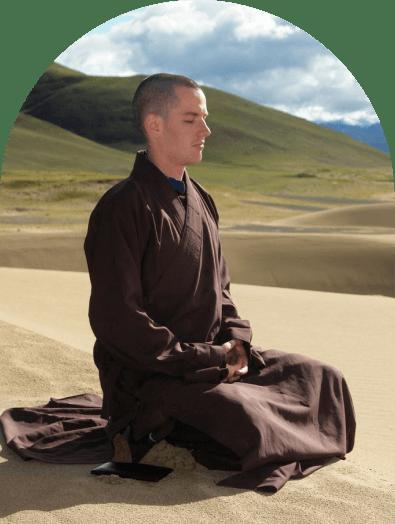 William Jackson mediating in robes