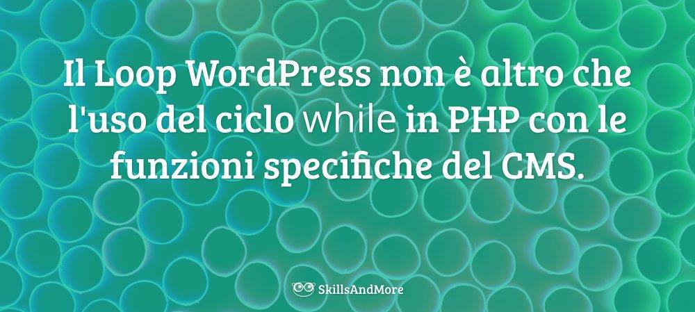 Il Loop WordPress è creato grazie al ciclo while in PHP