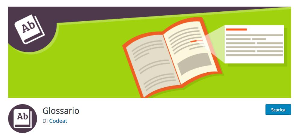 Il più elastico e completo glossario per WordPress
