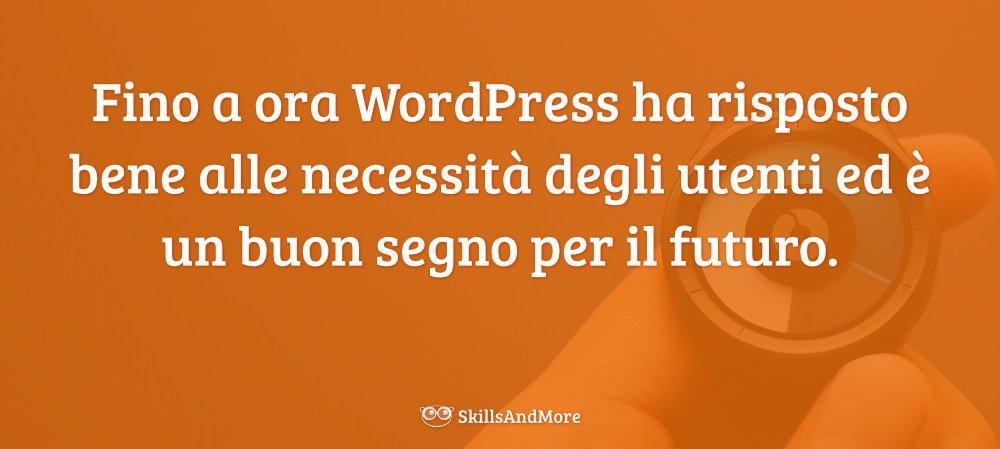 Il futuro del web e di WordPress deve ancora essere scritto