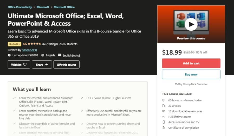 Ultimate Microsoft Office; Excel, Word, PowerPoint, & Access